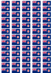 New South Wales Flag Stickers - 65 per sheet